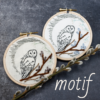 motif broderie chouette