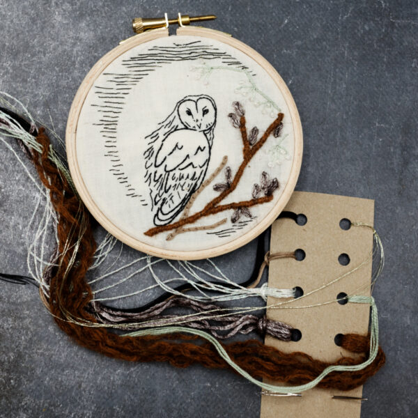 kit broderie chouette nature
